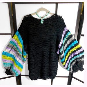 BIG PUFFY SLEEVE Sweater L/XL Crazy Sleeves